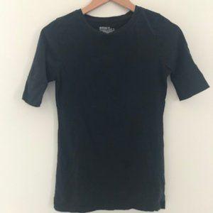 Mossimo black t-shirt 3/4 sleeve - Small